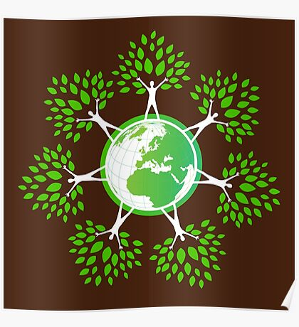 Earth Day Tree People (2c) Poster
