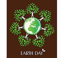 Earth Day Tree People Photographic Print