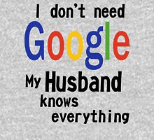 I don't need google husband white Women's Fitted Scoop T-Shirt