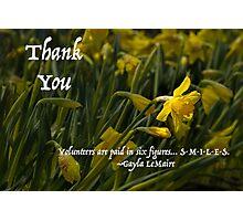 Thank You Daffodil Volunteer Photographic Print
