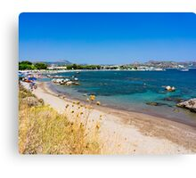 Kathara Beach Faliraki Canvas Print