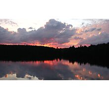 Cottage Sunset Photographic Print