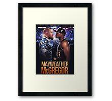 mayweather vs mcgregor Framed Print