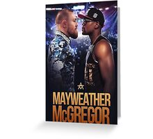 mayweather vs mcgregor Greeting Card