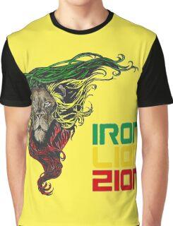 Reggae Rasta Iron, Lion, Zion 3 Graphic T-Shirt