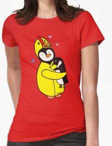 Penguin Hugs Womens Fitted T-Shirt