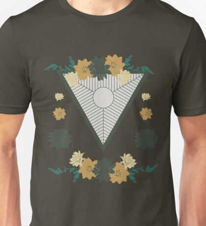 triangle with circles and lines , suspension decorated with flowers Unisex T-Shirt