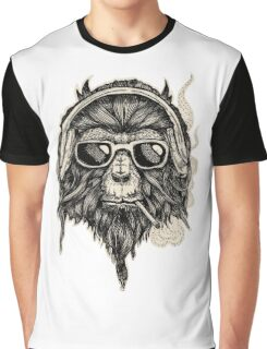 Smokin' Monkey Graphic T-Shirt