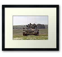 British Army Warrior Infantry Fighting Vehicle Framed Print
