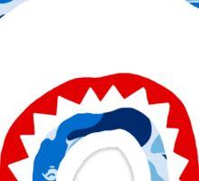 SHARK WITH BLUE CAMO Sticker