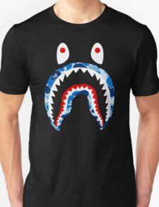 SHARK WITH BLUE CAMO Unisex T-Shirt