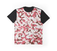 Red camouflage pattern Graphic T-Shirt