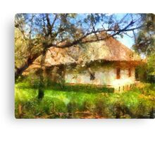 old Ukrainian house Canvas Print