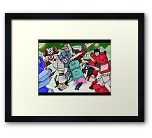 Transformers- Overlord Framed Print