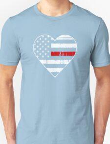 Thin Red Line Heart Shirt Logo Unisex T-Shirt