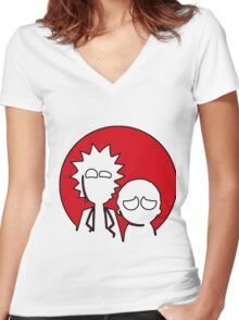 RickMorty Women's Fitted V-Neck T-Shirt