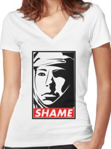 Game of Thrones - SHAME!!!!!! Women's Fitted V-Neck T-Shirt
