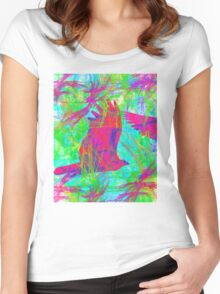Birds in Flight Women's Fitted Scoop T-Shirt