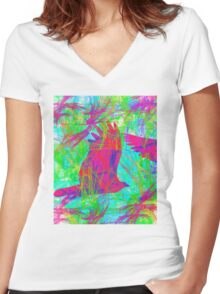 Birds in Flight Women's Fitted V-Neck T-Shirt
