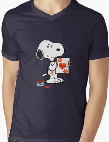 painting snoopy hand Mens V-Neck T-Shirt