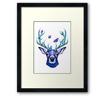Stag and the Butterflies  Framed Print