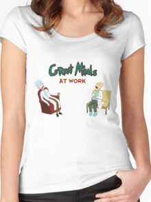 Get Work Women's Fitted Scoop T-Shirt