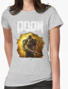 Doom : Fight Like Hell Womens Fitted T-Shirt