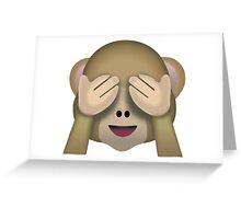 Monkey Emoji Greeting Card