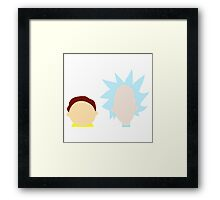 RickMorty Framed Print