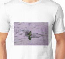 Duck Catching a Fish Unisex T-Shirt