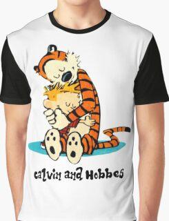 Calvin and Hobbes hug Graphic T-Shirt
