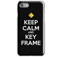Keep Calm and Keyframe (White Type) iPhone Case/Skin