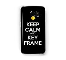 Keep Calm and Keyframe (White Type) Samsung Galaxy Case/Skin
