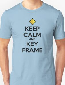 Keep Calm and Keyframe (Black Type) Unisex T-Shirt