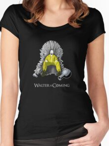 Breaking Bad - Walter is Coming Women's Fitted Scoop T-Shirt