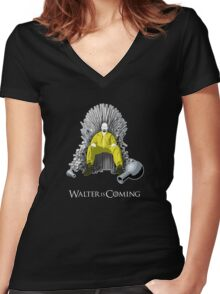 Breaking Bad - Walter is Coming Women's Fitted V-Neck T-Shirt