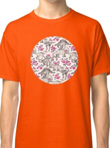 Dinosaurs and Roses – white Classic T-Shirt