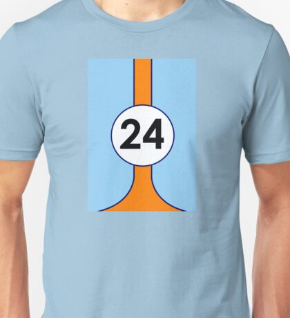 Gulf Motor racing stripes Unisex T-Shirt