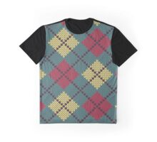 Retro Knit Argyle Graphic T-Shirt