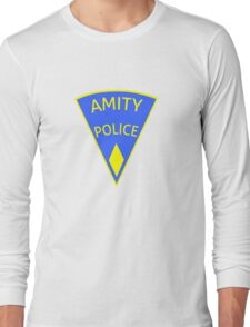 Jaws Amity Police patch Long Sleeve T-Shirt