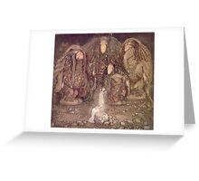 Fairy Tales, Swedish, Sweden, John Bauer, Trolls, and a Princess,  Greeting Card