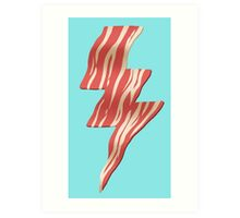 powered by bacon Art Print