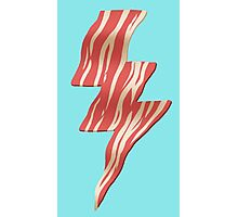 powered by bacon Photographic Print