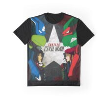 Turtles Civil War Graphic T-Shirt
