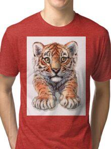 Playful Tiger Cub 907 Tri-blend T-Shirt