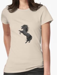 Black Horse Womens Fitted T-Shirt