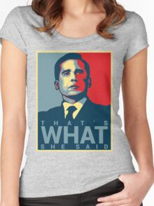 Michael Scott - That's What She Said Women's Fitted Scoop T-Shirt