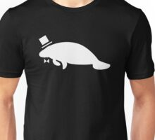 Formal Top Hat & Bow Tie Manatee Unisex T-Shirt