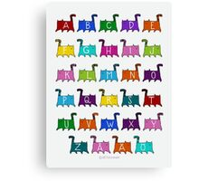 ABC Cats Canvas Print