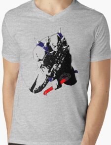 Panthro - distressed Mens V-Neck T-Shirt